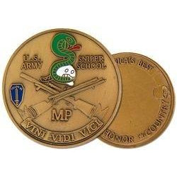 United States Army Sniper School Military Police (MP) Challenge Coin (38MM inch)