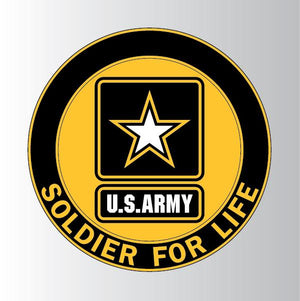"U.S. Army Soldier for Life 3.25""x3.25"" Decal"