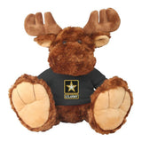 "U.S. Army Star Logo Plush 10""  Big Foot Moose Toy"