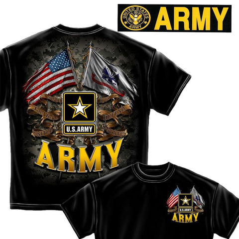 U.S. Army T-Shirt and Bumper Sticker set-Military Republic