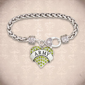 U.S. Army® Heart Braided Clasp Bracelet-Military Republic