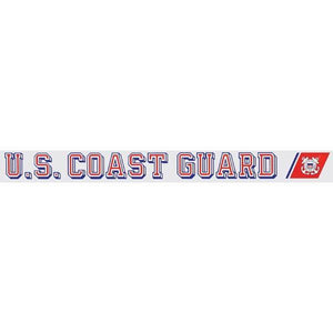 "U.S. Coast Guard 16.5""x1.5"" Window Strip"