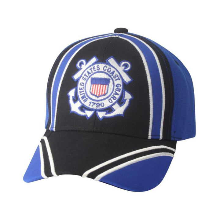 U.S Coast Guard 3D Emblem Black/Royal Hat