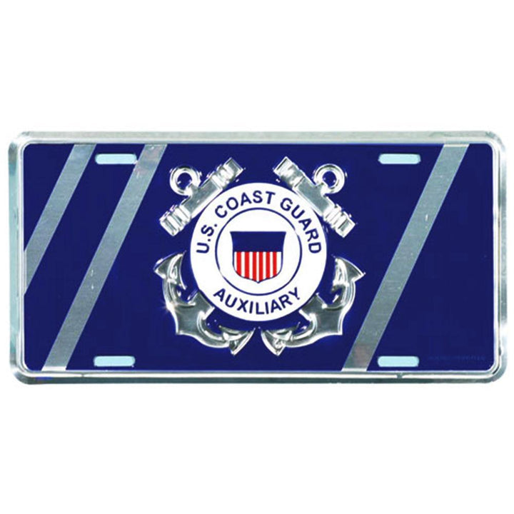 U.S. Coast Guard Auxiliary License Plate-Military Republic