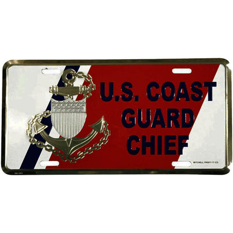 U.S. Coast Guard Chief License Plate-Military Republic