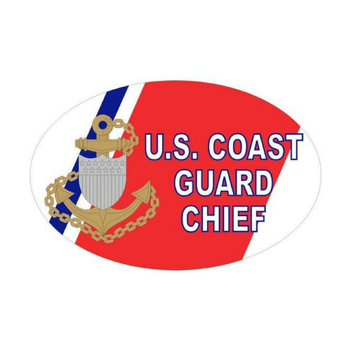 US Coast Guard Chief Oval Auto Magnet-Military Republic
