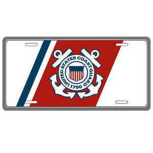 U.S. Coast Guard Insignia License Plate-Military Republic