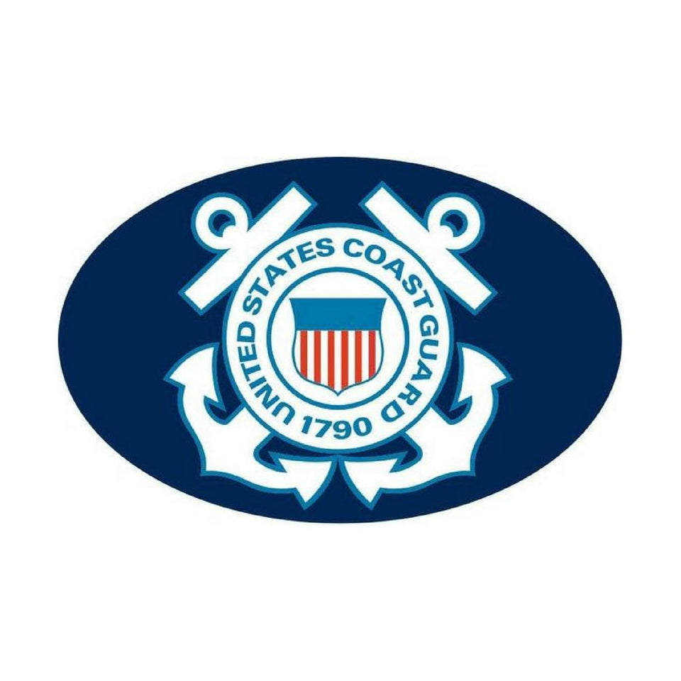 US Coast Guard Oval Auto Magnet-Military Republic