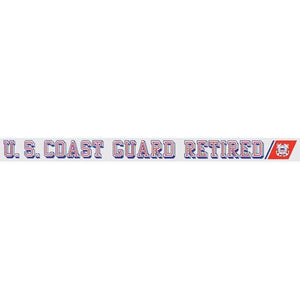 "U.S. Coast Guard Retired 20.5""x1.5"" Window Strip"