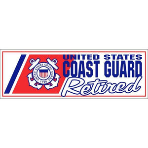 "U.S. Coast Guard Retired 3 x 9"" Bumper Sticker"
