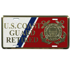 U.S. Coast Guard Retired License Plate-Military Republic
