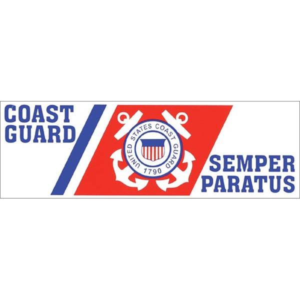 "U.S. Coast Guard Semper Paratus 3 x 9""  Bumper Sticker"
