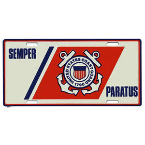 U.S. Coast Guard Semper Paratus License Plate-Military Republic
