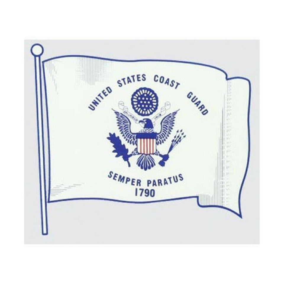 US Coast Guard Wavy Flag Decal-Military Republic