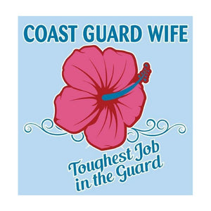 U.S. Coast Guard Wife with FLOWER Decal-Military Republic