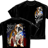 U.S. Dogs Of Valor Bull Dog T-Shirt-Military Republic