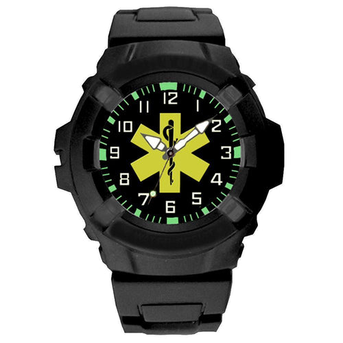 US EMS Combat Black case Wrist Watch-Military Republic