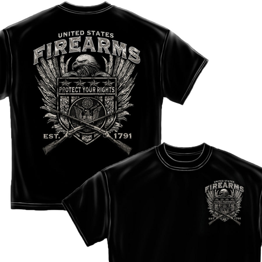 US Firearms 2nd Amendment T-Shirt-Military Republic