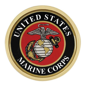 US Marine Corps Colored Metal Auto Emblem