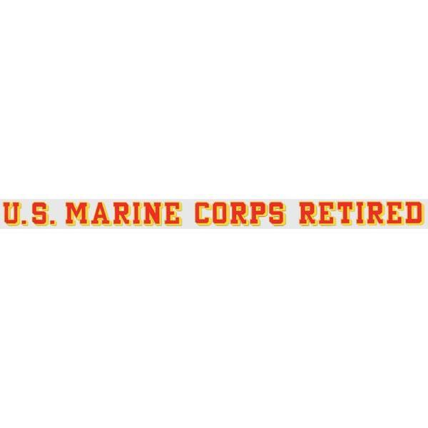 "U.S. Marine Corps Retired 24.75""x1.5"" Window Strip"