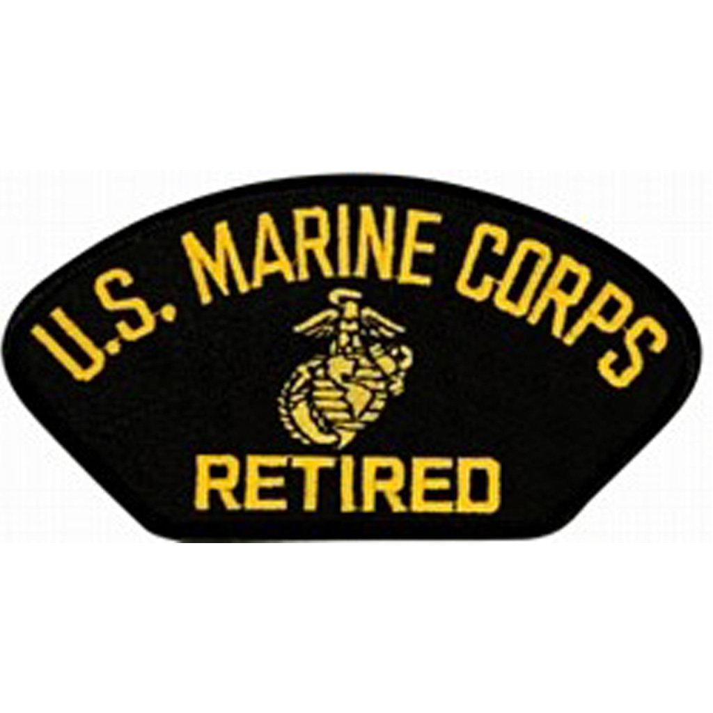 U.S. Marine Corps Retired Insignia Black Patch (4