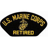 "U.S. Marine Corps Retired Insignia Black Patch (4"" inch)"