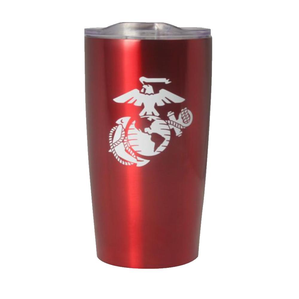 U.S. Marine EGA Symbol 20oz Vacuum Insulated Red Tumbler