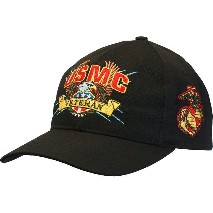U.S. Marine Veteran Cap with Eagle & Flag-Military Republic