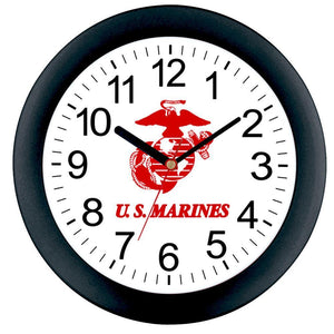 "US Marines 10"" wall clock-Military Republic"