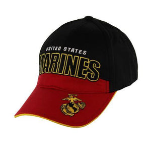 U.S. Marines Black and Gold Cap