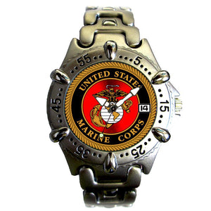US Marines brass metal case Watch-Military Republic