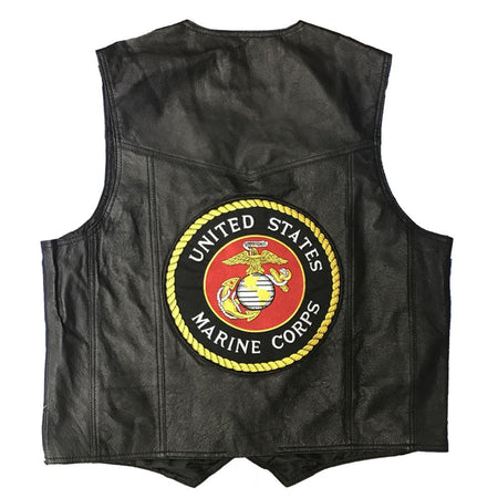 U.S. Marines Leather Vest-Military Republic