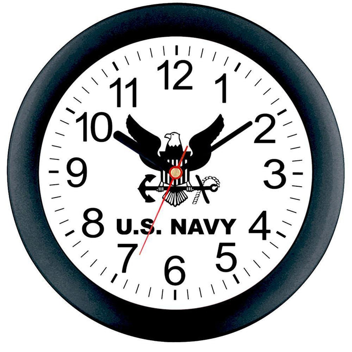 "US Navy 10"" Wall Clock-Military Republic"