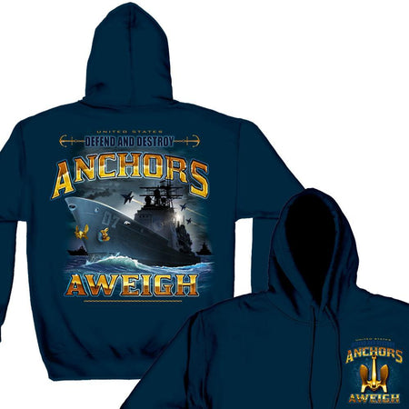 US NAVY Anchors Aweigh Hoodie