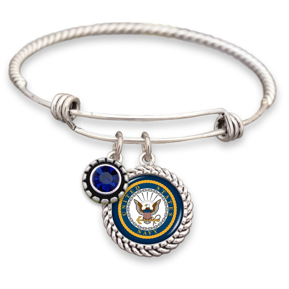 U.S. Navy Crystal Wire Bracelet