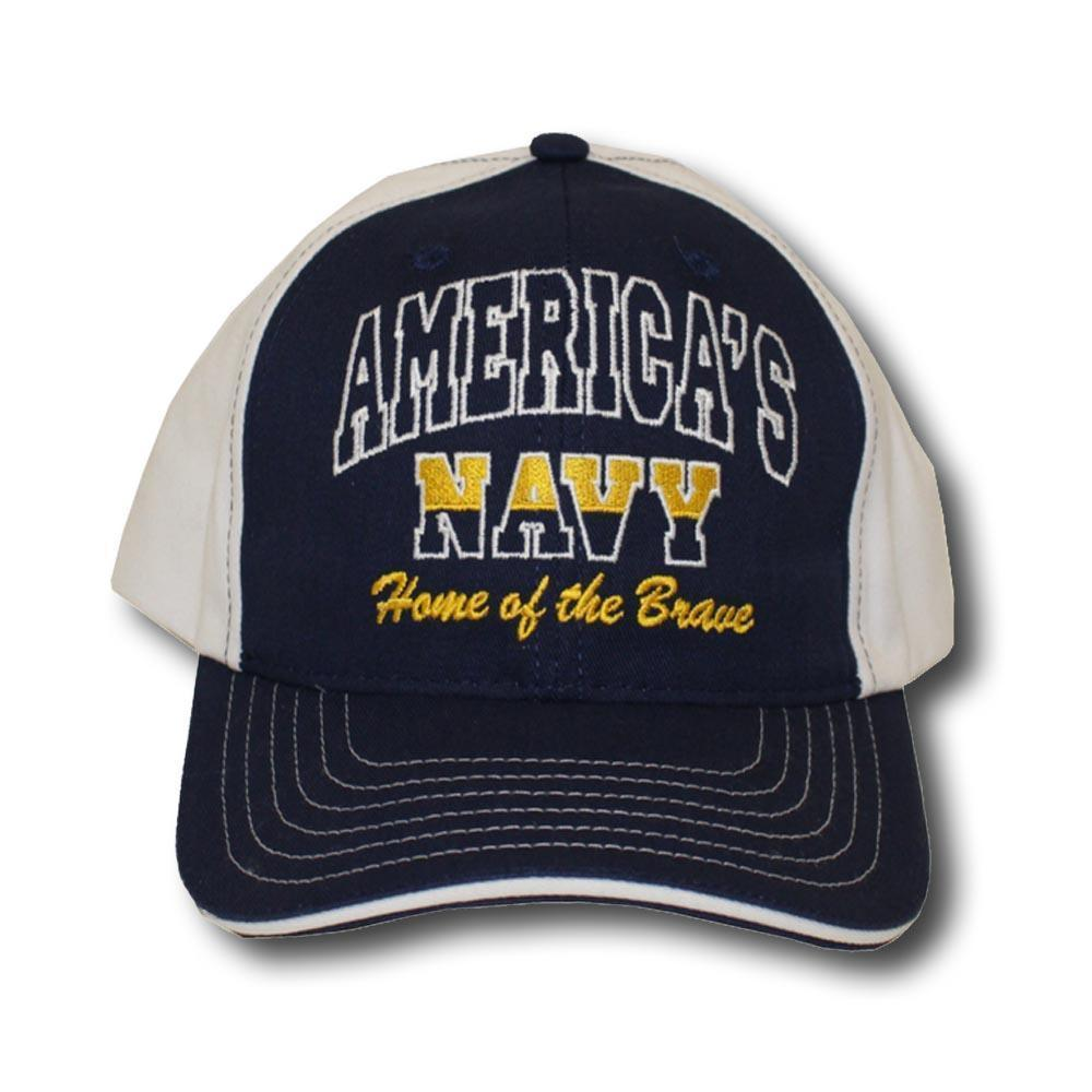 Navy Home of the Brave Hat-Military Republic