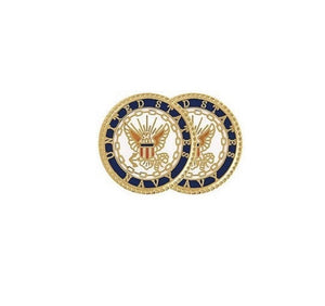 U.S. Navy Insignia Cuff Links + Tie Bar Gift Set