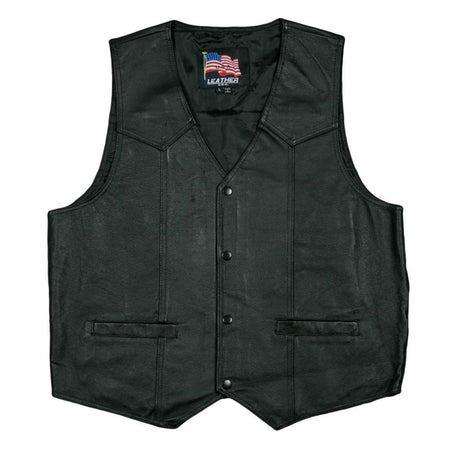 U.S. Navy Leather Vest-Military Republic