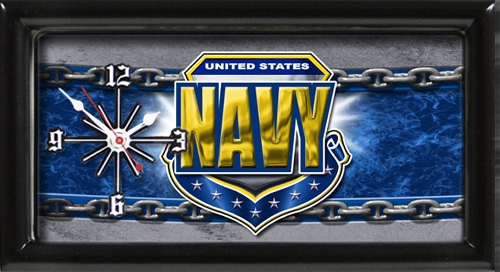 US Navy License Plate Clock