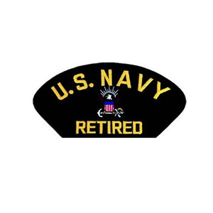 US Navy Retired Black Patch  4 inch