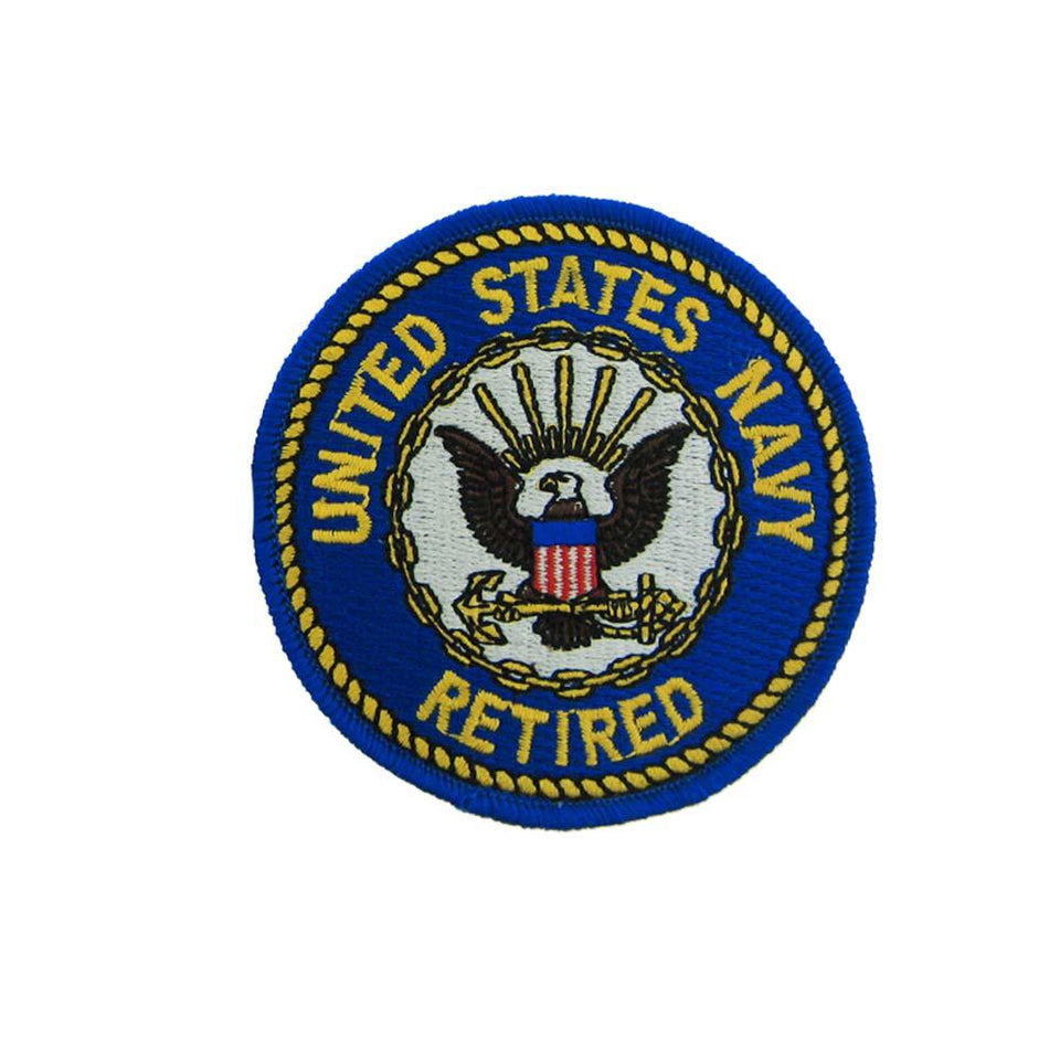 US Navy Retired (Round) Small Patch 3""
