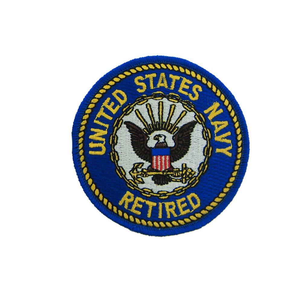 US Navy Retired (Round) Small Patch 3