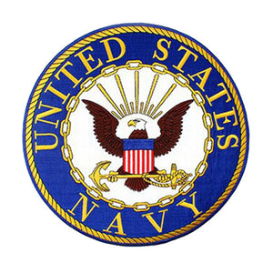 U.S. Navy  Rocker Back Patch 10""