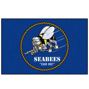 US Navy Seabees Star Floor Mat