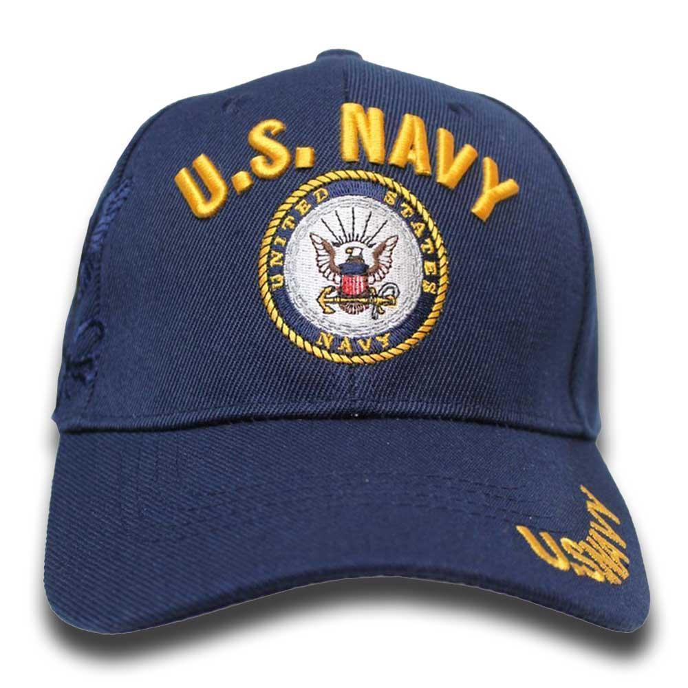 U.S Navy Shadow Embroidery Cap (Navy)-Military Republic