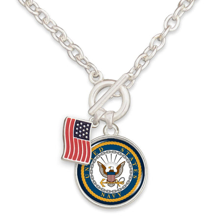 U.S. Navy Toggle Necklace with American Flag