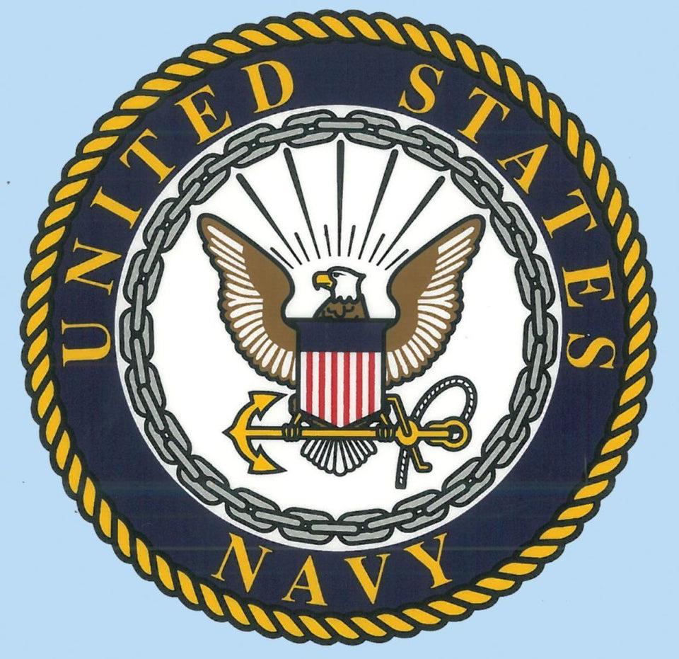 "U.S. Navy with Crest 4"" Decal"