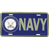 US NAVY with Crest Logo License Plate