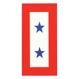 "U.S. Two Blue Star Service 3 x 6 "" Decal"