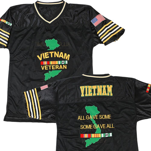 U.S. Vietnam Veteran Football Jersey-Military Republic